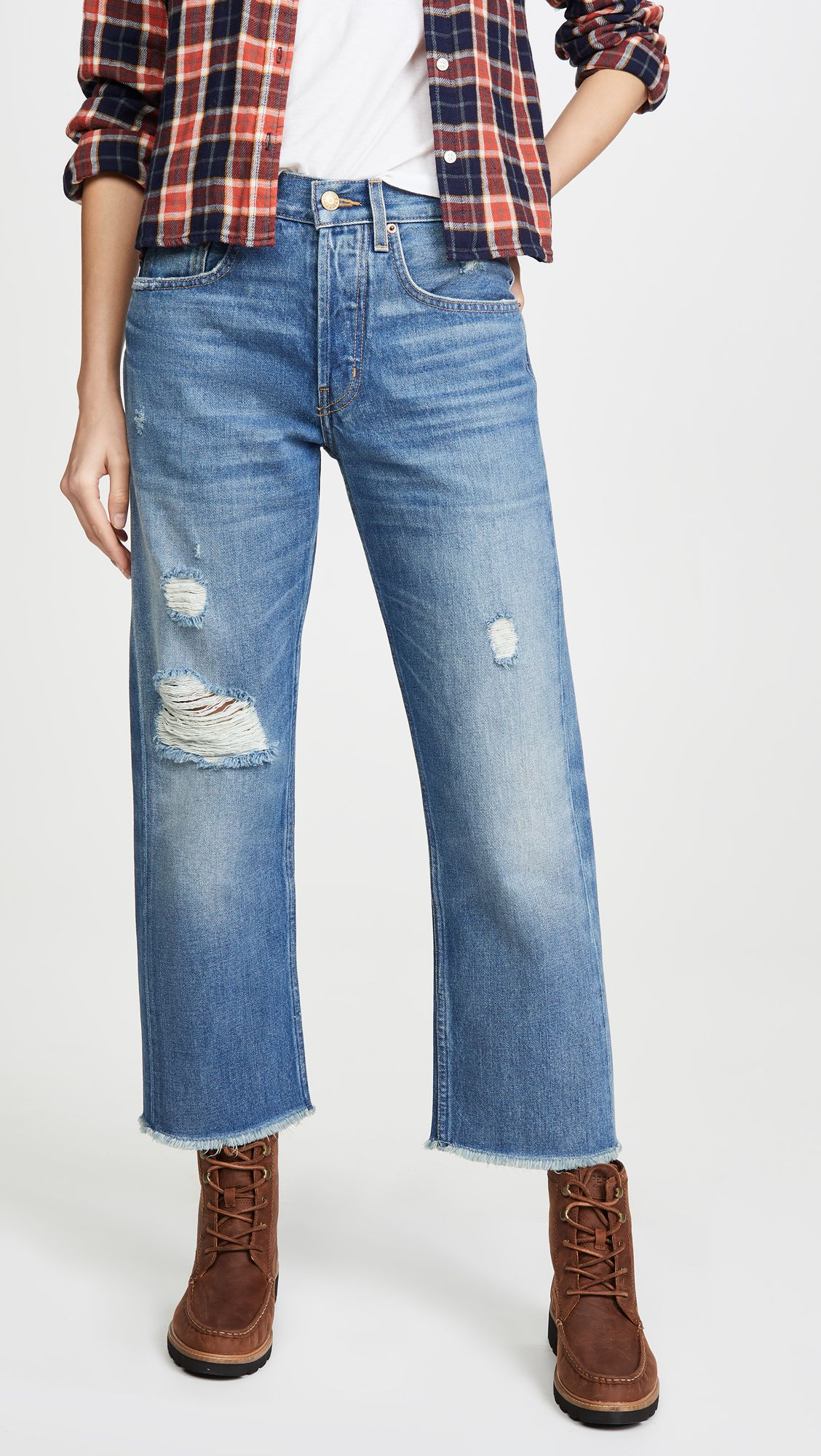 B Sides Marcel Relaxed Straight Jeans Straight Jeans Jeans Distressed Jeans