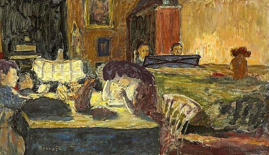 Pierre Bonnard (1867-1947) Soirée au salon
