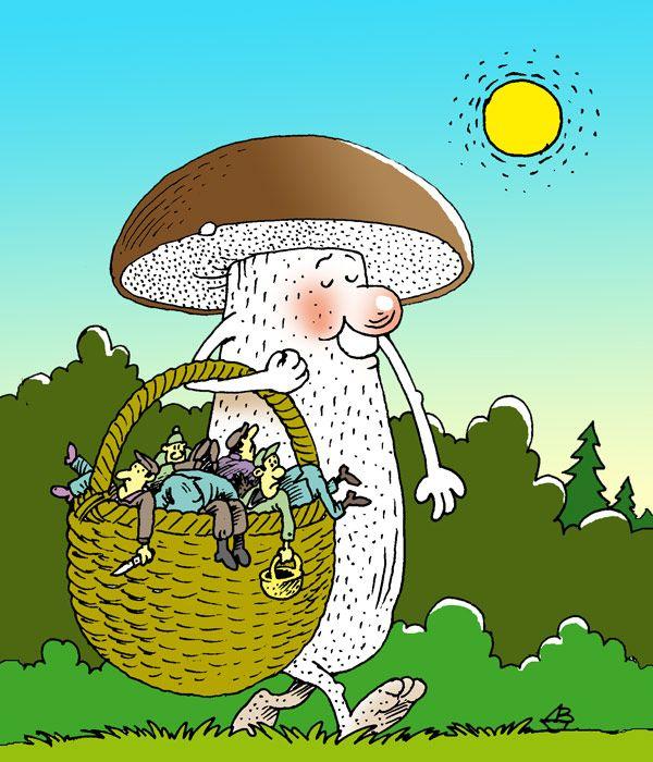 Смешные картинки грибники