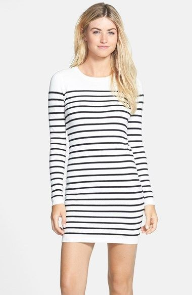 Bardot Sailor Stripe Cotton Blend Knit Dress (Nordstrom Exclusive) is on sale now for - 25 % ! is on sale now for - 25 % !