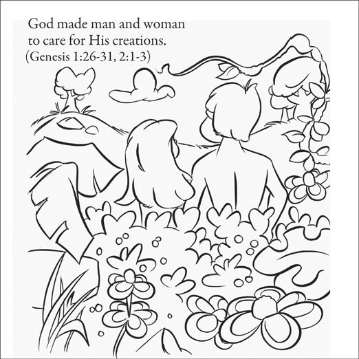 god made man coloring pages - photo#6