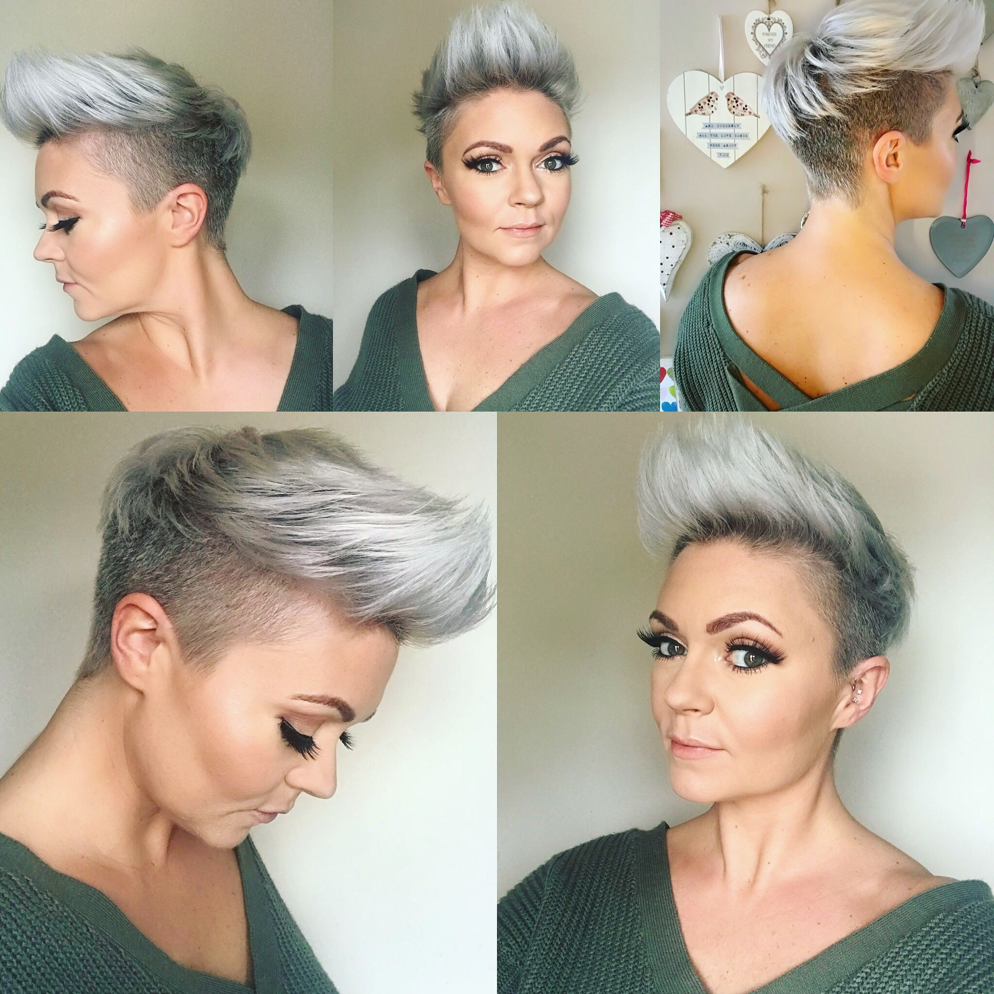 Pin By Julia Ramirez Salazar On Hair Short Hair Shaved Sides Shaved Side Hairstyles Thick Hair Styles