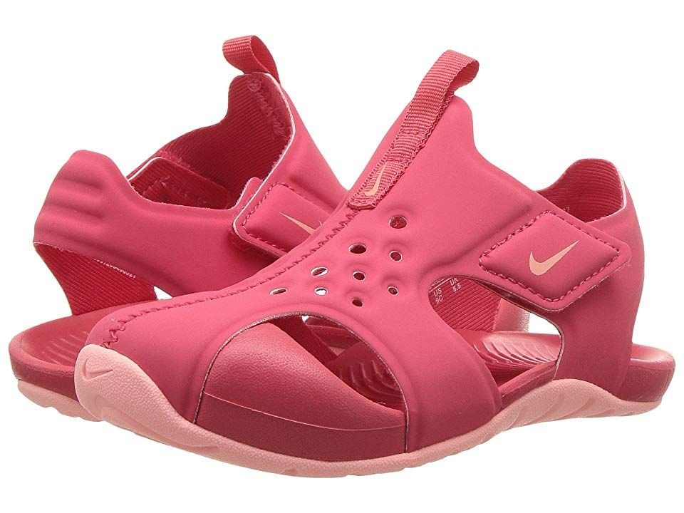 11a08846c491 Nike Kids Sunray Protect 2 (Infant Toddler) (Tropical Pink Bleached Coral)  Girls Shoes. Strap in with Nike and hit the beach with the Sunray Protect 2.