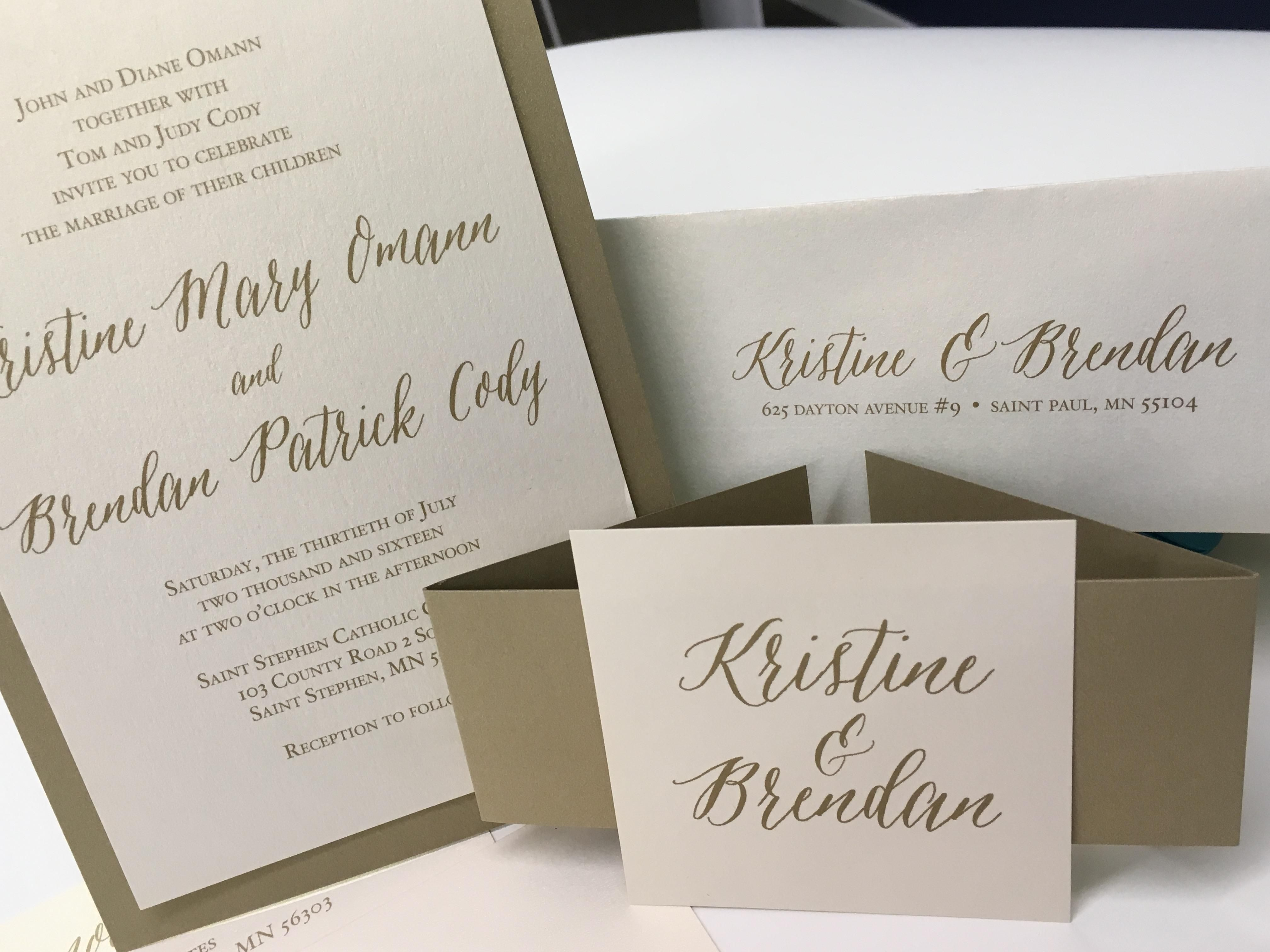 These beautiful wedding invitations designed and printed by Rengel ...