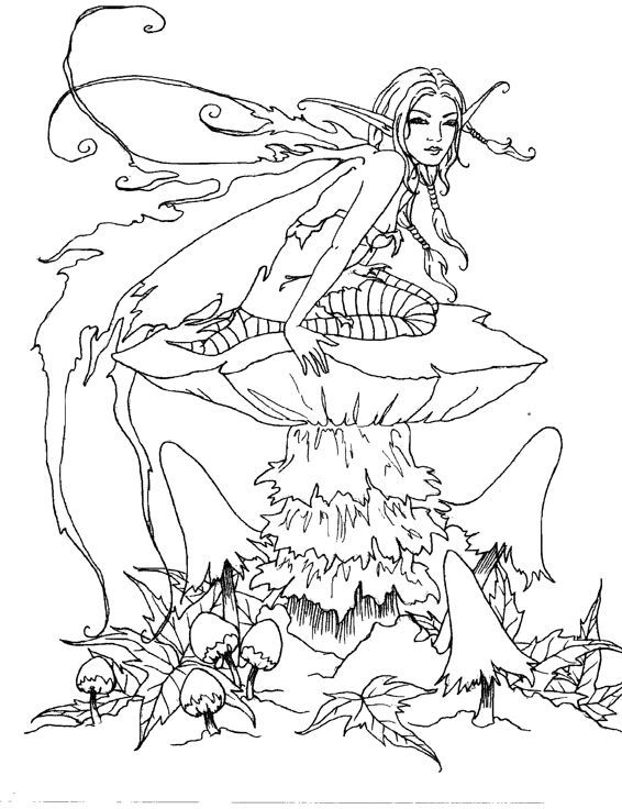 Artist Amy Brown Fairy Myth Mythical Mystical Legend Elf Fae Wings Fantasy Adult Coloring PagesColoring