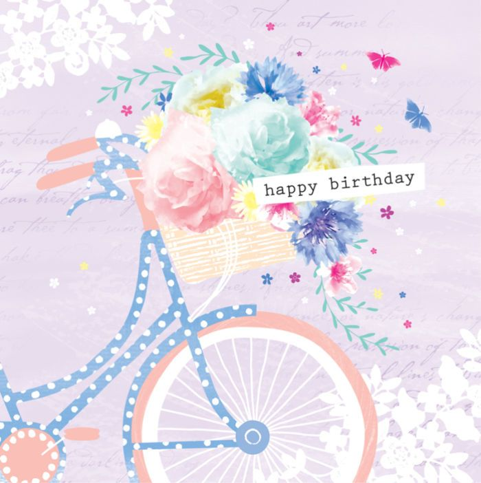 Female Birthday Mothers Day Floral Bike