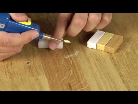 Wood Floor Repairing It Looks Simple But Need A Keen Eye For Color Matching I Think But This Video Shows That It Can Laminate Flooring Wood Repair Laminate