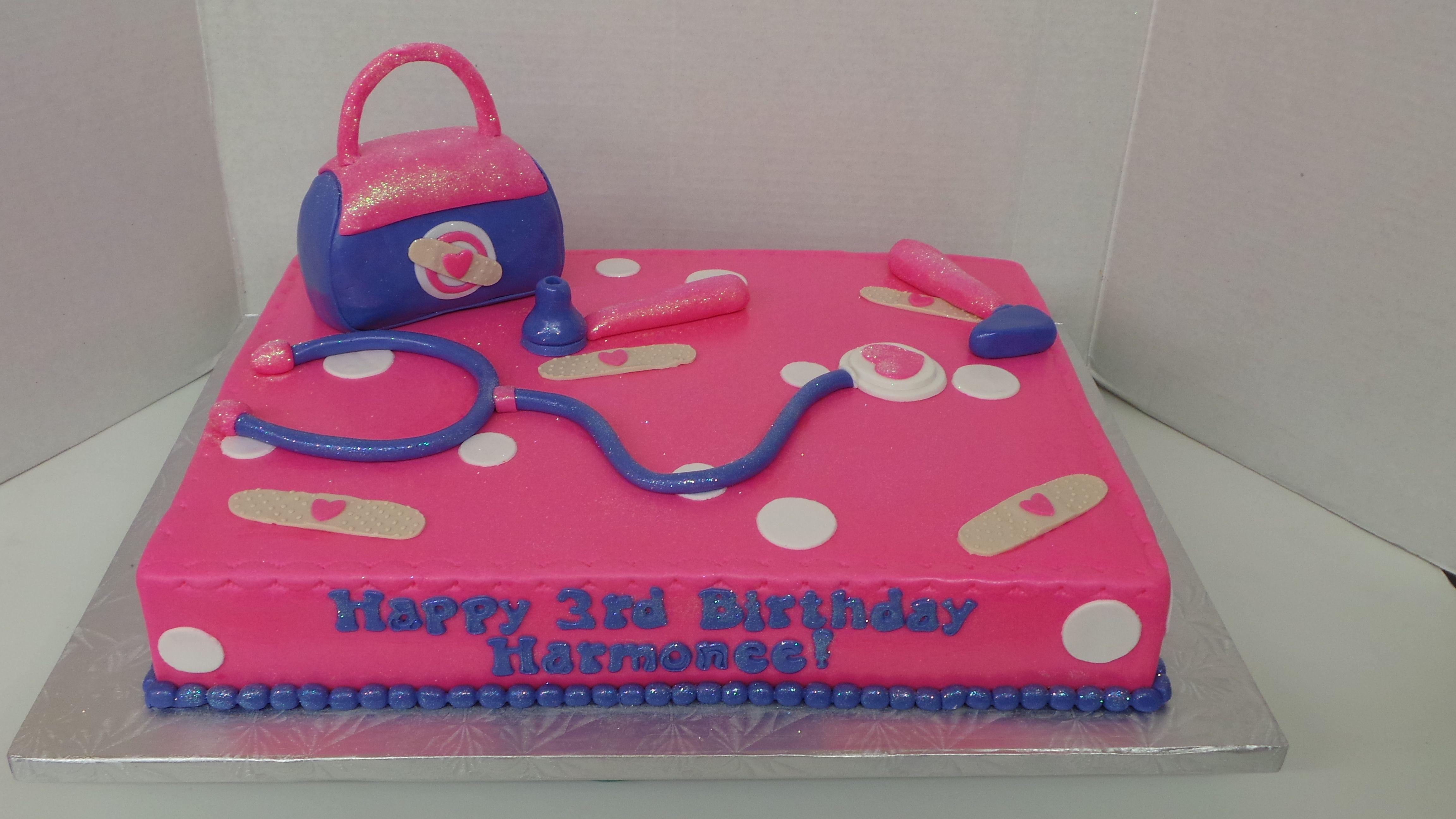 Doc Mcstuffin Themed Sheet Cake Doc Mcstuffins Cake Birthday
