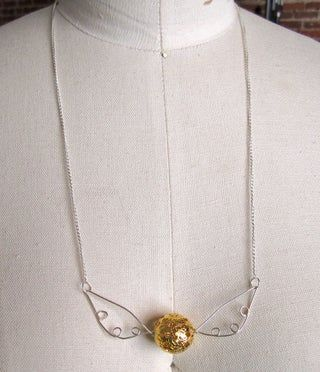 Photo of Make a Golden Snitch Necklace!