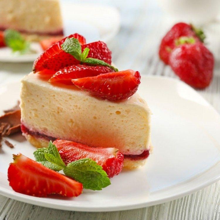 تشيز كيك بالفراولة بدون فرن مطبخ سيدتي Recipe Cheesecake Desserts Food