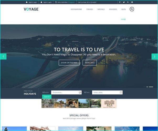 14 Free Travel Website Templates Travel Website Templates Best Travel Websites Free Travel
