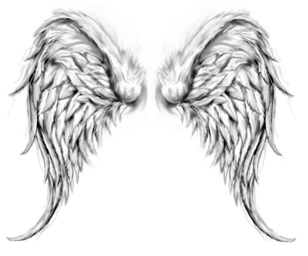 Angel Wings Drawings Realistic Angel Wings Drawing Tattoo Pictures
