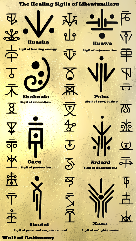 Libratumilera: Healing Sigils – Wolf Of Antimony Occultism