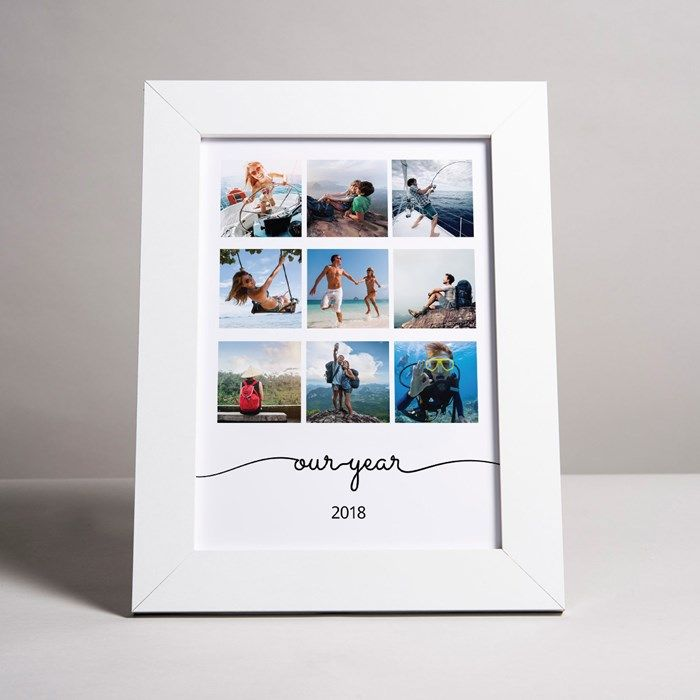 Photo Upload Framed Print – Our Year