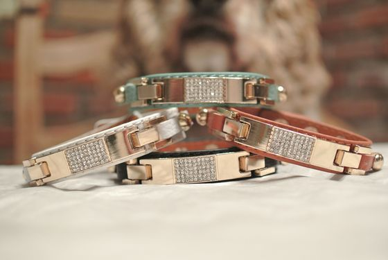 "Image of ""The Courtney"" leather bling bracelets"