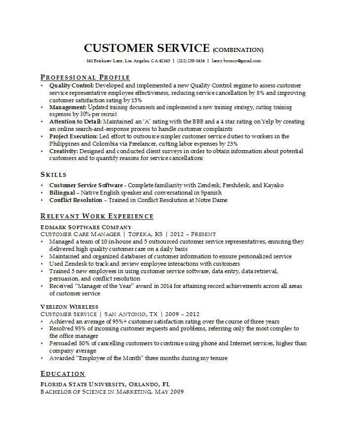 30 Customer Service Resume Examples Customer Service Resume Examples College Resume Template Customer Service Resume