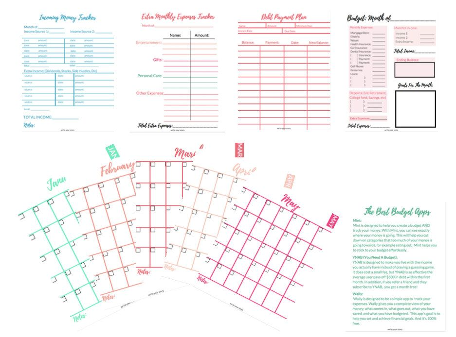 12 month budget binder print and use monthly etsy in