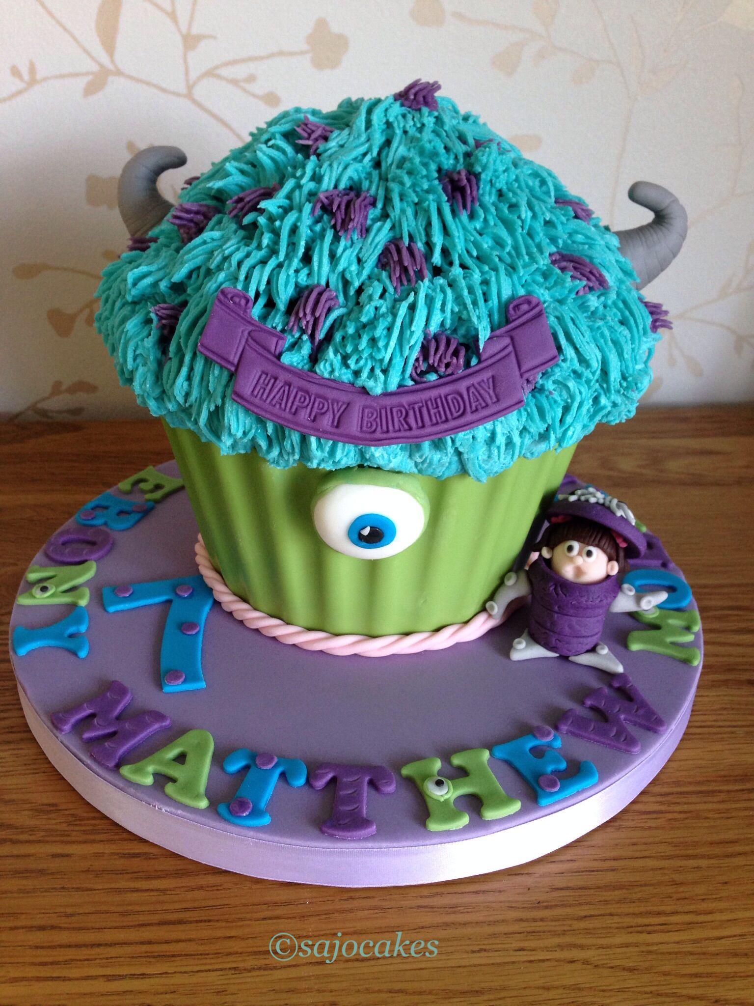 'Monsters Inc' Giant Cupcake   Cake decorating   Pinterest ...