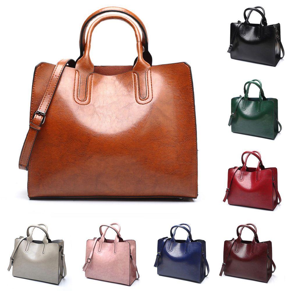 fddd9e35d789 Womens Large Leather Handbag Shoulder Bags Tote Purse Messenger Hobo  Satchel Bag handbags designer