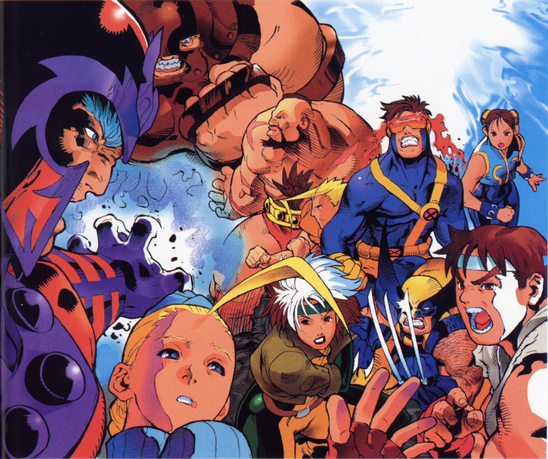 X Men Vs Street Fighter Capcom Art Street Fighter Art Capcom Vs