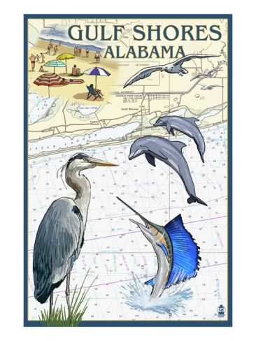 Gulf Shores Alabama Nautical Chart With Images Gulf Shores