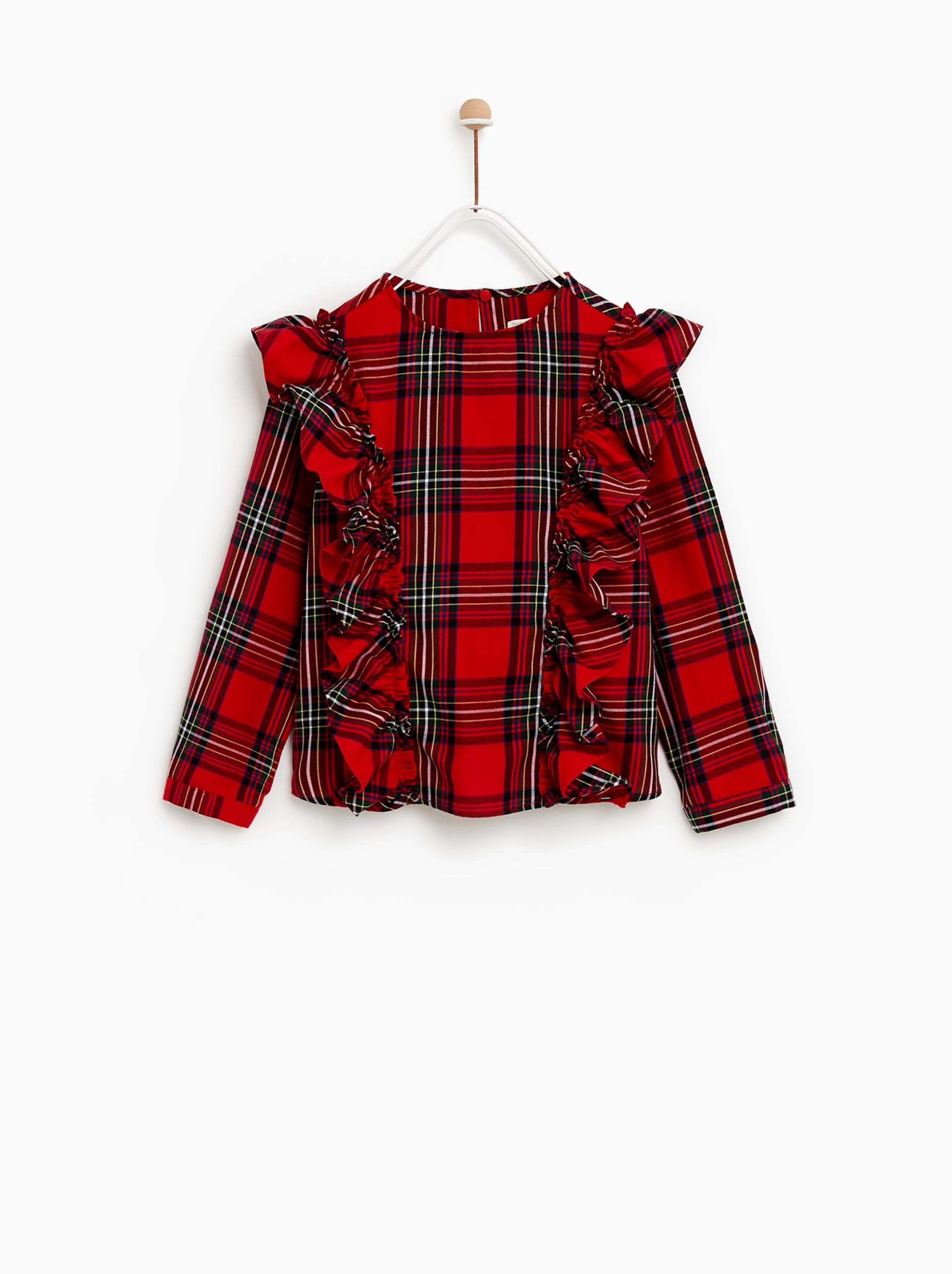 Flannel shirt for girls  Image  of PLAID SHIRT from Zara  Holiday Inspiration  Pinterest