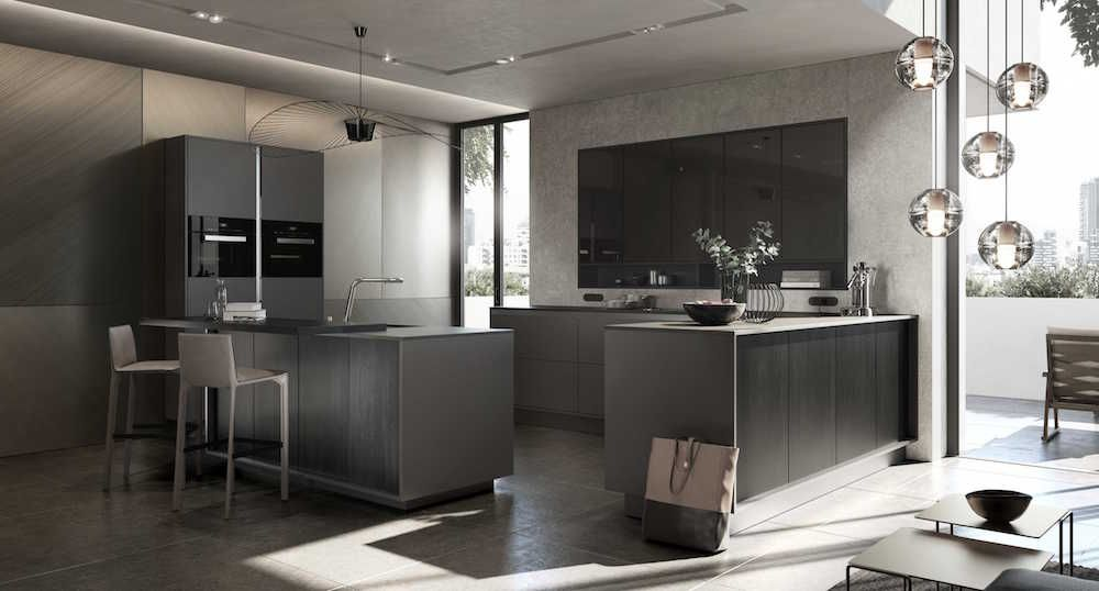 Siematic designkeuken in de lifestyle pure kleur sterling grey
