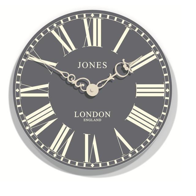 Newgate Clocks Jones Suffolk Wall Clock Grey From Ocado