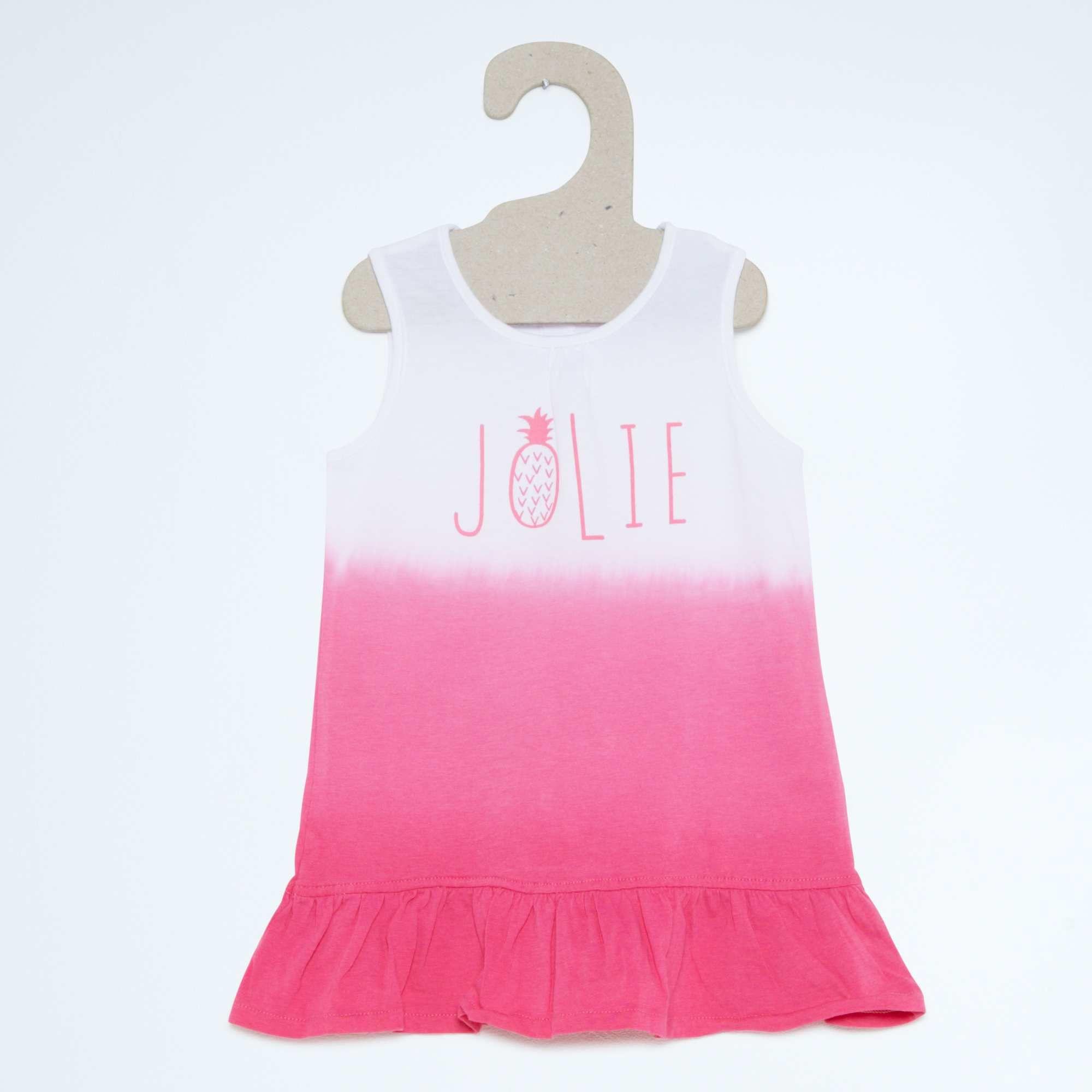 Robe volantée en jersey Bébé fille - Kiabi - 4,00€   Vêtement enfant ...