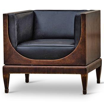Surprising Frasier Modern Classic Black Leather Brown Walnut Armchair Machost Co Dining Chair Design Ideas Machostcouk