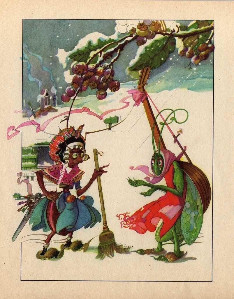Illustration La Cigale Et La Fourmi : illustration, cigale, fourmi, Cigale, Fourmi, Gustave, Fables, Fontaine,, Fable,, Fontaines