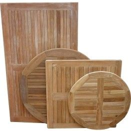 Restaurant Outdoor Solid Teak Wood Table Tops For Sale