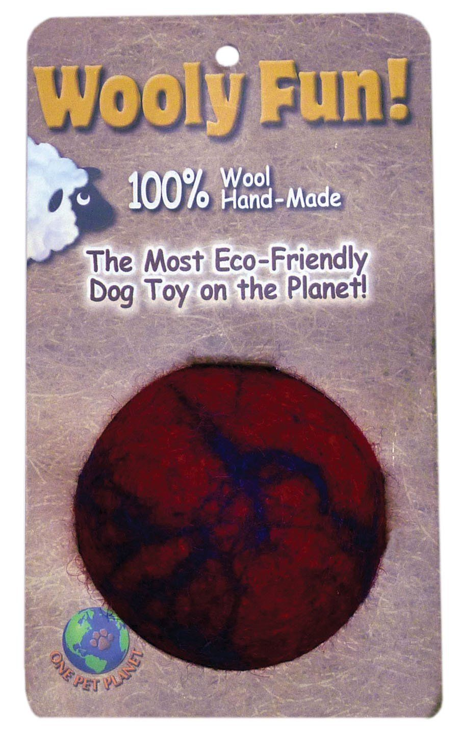 One Pet 86080 3.5Inch Wooly Fun Ball Dog Toy * You