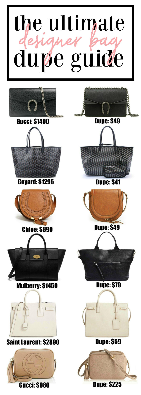 b48e76b0d 20+ designer bag dupes!! | Fashion blogger Mash Elle shares a complete  designer bag dupe guide! Affordable designer bag dupes for Chloe, Gucci,  Goyard, ...