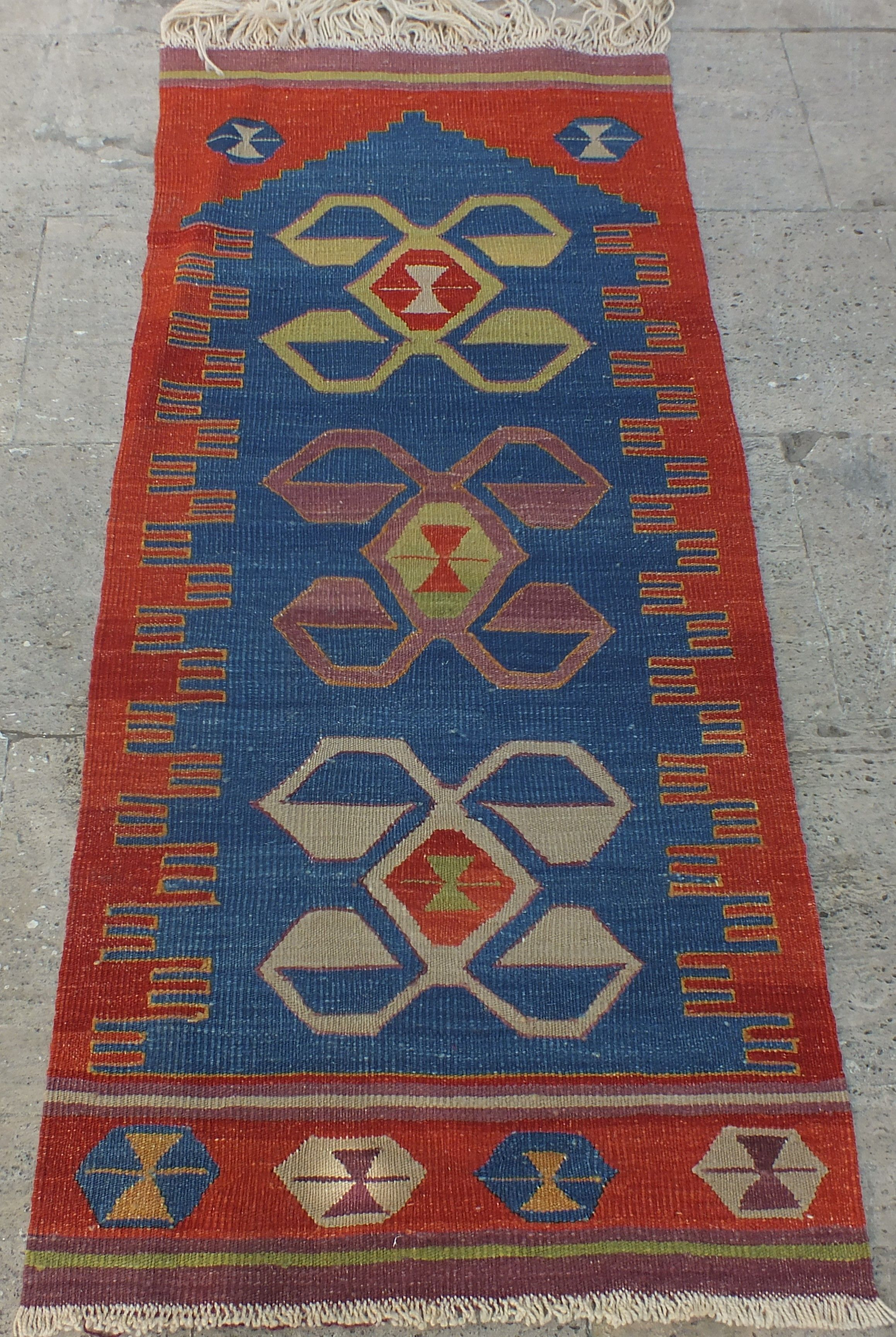 Kilim Rug Turkish Vintage Runner Prayer