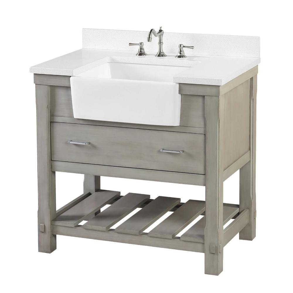 Charlotte 36 Inch Farmhouse Vanity With Quartz Top In 2021 Farmhouse Vanity Single Bathroom Vanity Bathroom Vanity [ 1000 x 1000 Pixel ]