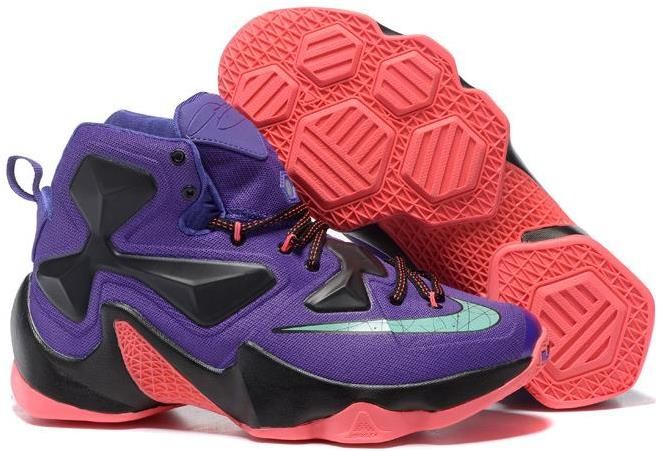 23885e95637 Lebron 13 Purple Red Green | Lebron 13 Mens shoes on sale in 2019 ...