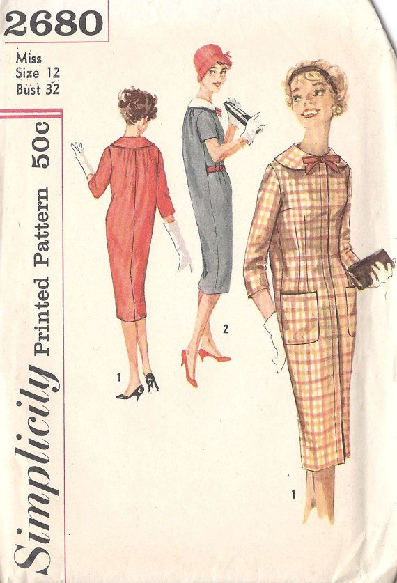 1950 S Sack Quot Le Sacque Quot Dresses With Rounded Collar