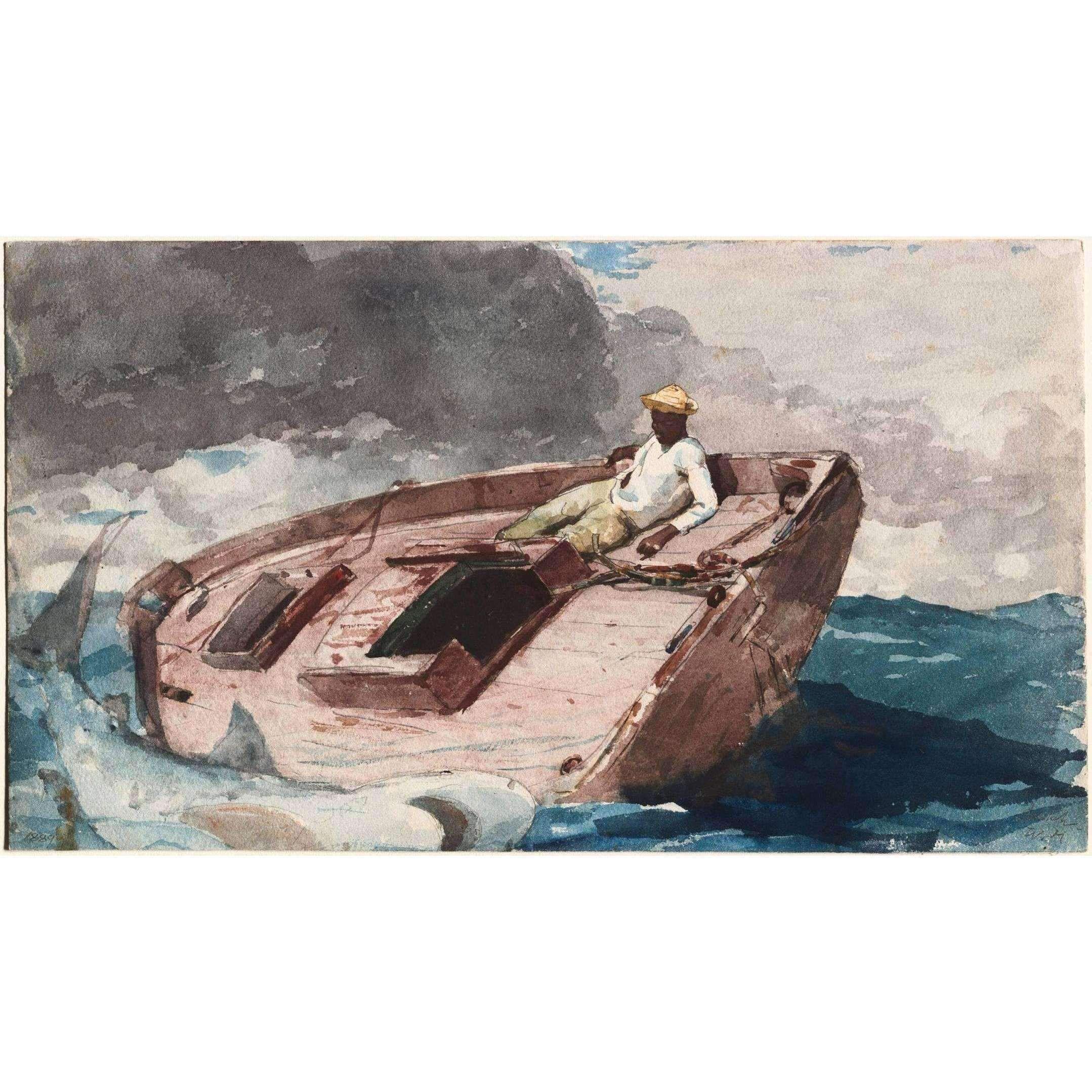 Winslow Homer The Gulf Stream Giclee Fine Art Canvas Print