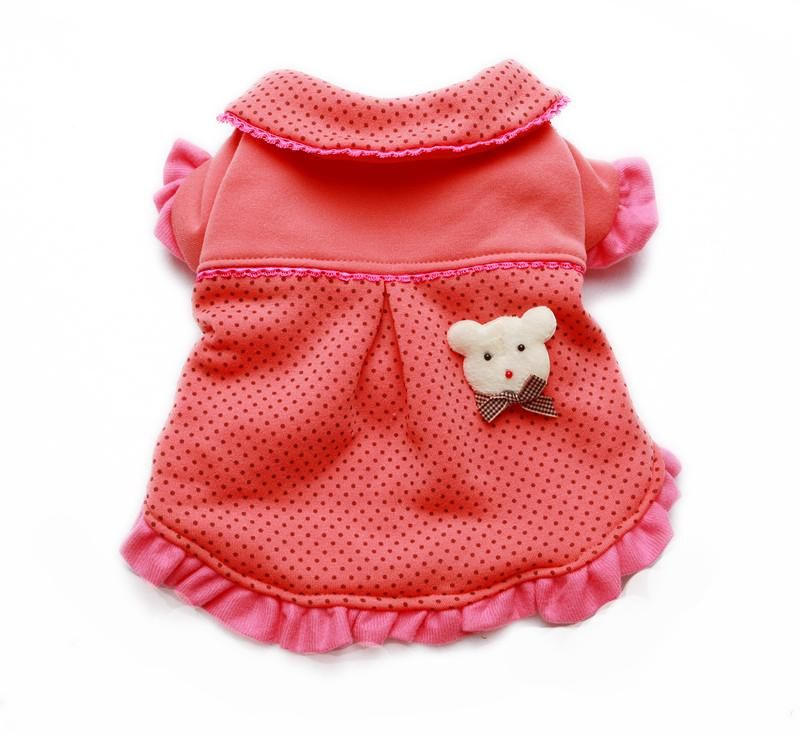 Our Dotted Ruffle Jacket Dress (size 4) perfect for Valentines Day :) http://shop.poochitoutou.com/dotted-ruffle-jacket-dog-dress-clothes.html