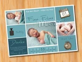 Ausgefallene Dankeskarten Geburt 211 - Bild vergrößern