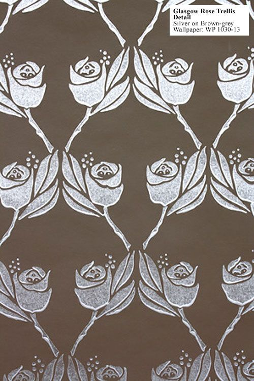 Cr Mackintosh Glasgow Rose Trellis Wallpaper Textiles