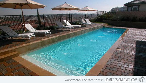 explore rectangle pool small swimming pools and more. example of a ...