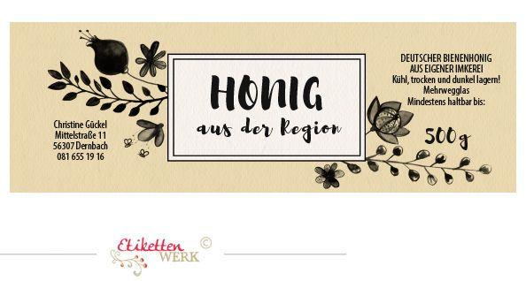 Honigetiketten, Design für Honig, Honigglasetiketten, Etiketten ...