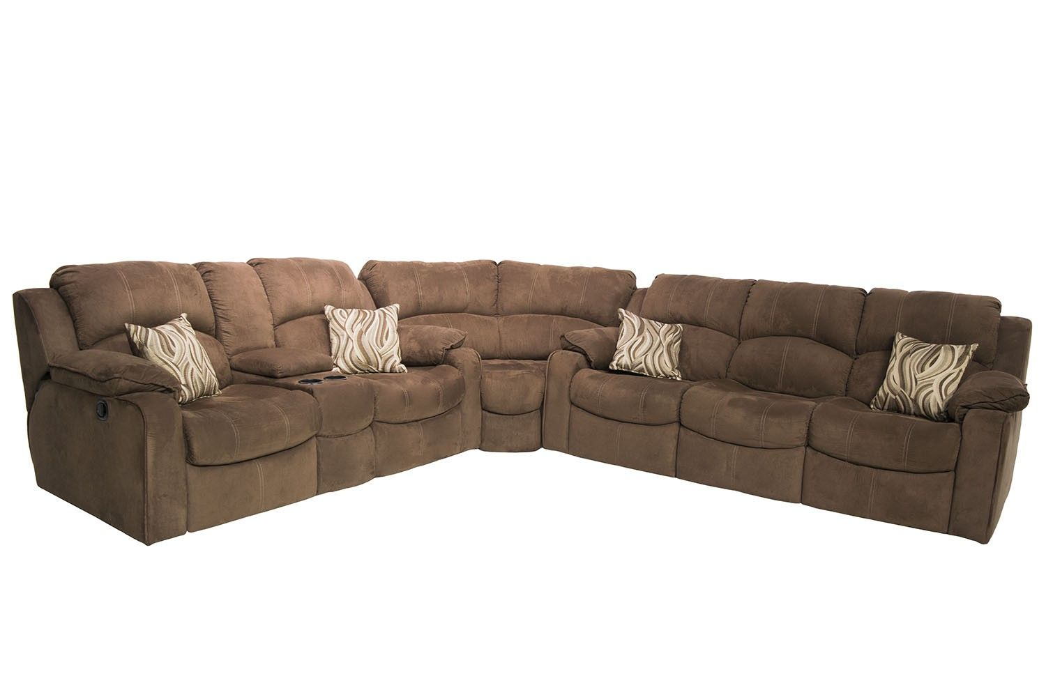 Tornado Sectional Living Room in Chocolate - Living Room | Mor ...