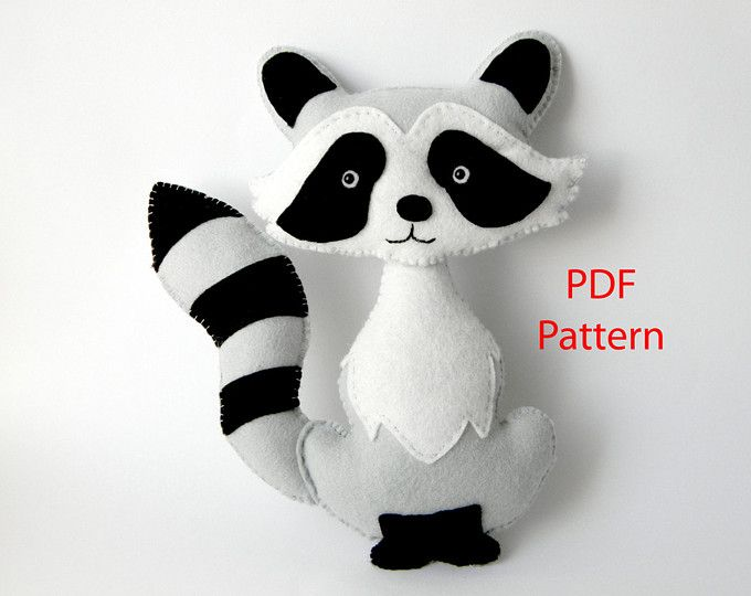 Easy to sew felt PDF pattern. DIY Pablo the Mouse, finger puppet or ...