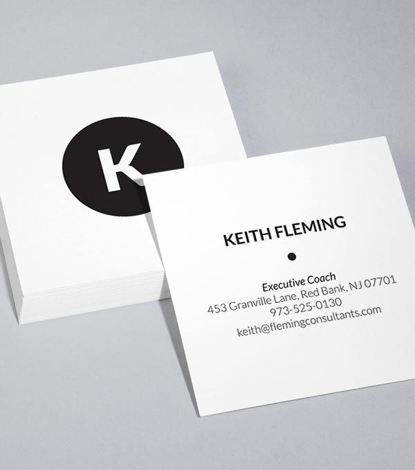Browse Square Business Card Design Templates | MOO (United States ...