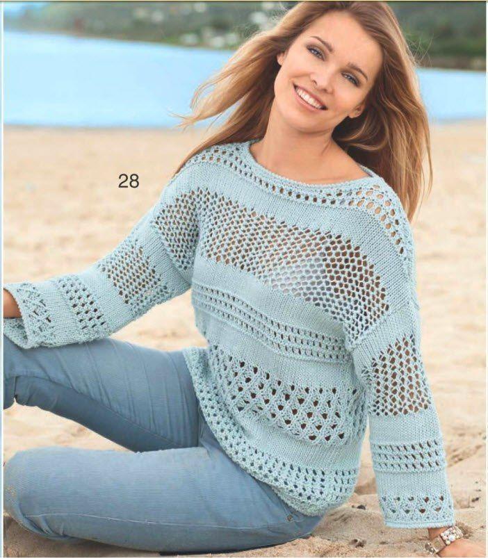 Пуловер из хлопка схемы