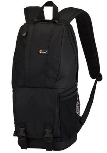 Lowepro Fastpack 100 -Black by Lowepro. $68.55. From the Manufacturer                   Fastpack 100        Manufacturer Description:  Go all day with the lightweight, comfortable Fastpack 100 backpack. It protects your digital SLR compactly while providing generous storage for your other gear. Side-entry compartments let you quickly grab equipment and accessories, even while you're on the move. You won't miss a shot, because side-entry compartments let you grab equipmen...