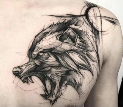 Tatuajes para hombres lobos